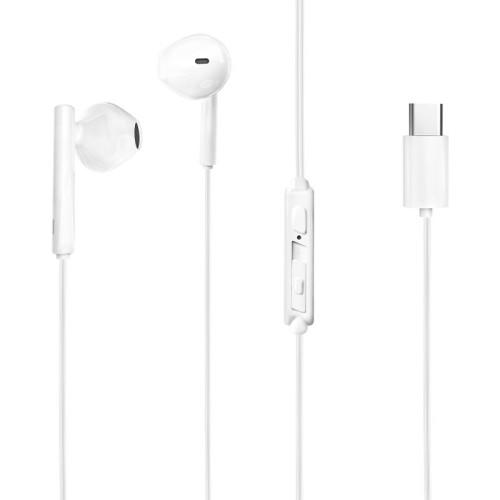 Dudao Wired USB Type C Earphones white (X3S white)