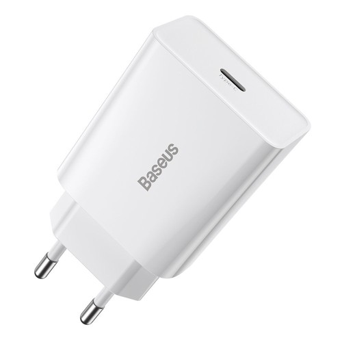 Baseus Speed Mini fast wall charger EU USB Type C 20W 3A Power Delivery Quick Charge white (CCFS-SN02) Λευκό