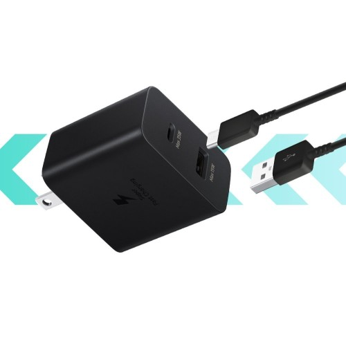 Samsung Fast Duo fast charger USB / USB Type C Power Delivery 3.0 Quick Charge 2.0 35W 3A black (EP-TA220NBEGEU)