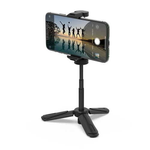 BlitzWolf® BW-BS0 Mini Desk Tripod Phone Holder with Compact Size, Light Weight, Stable Tripod and Wide Compatibility