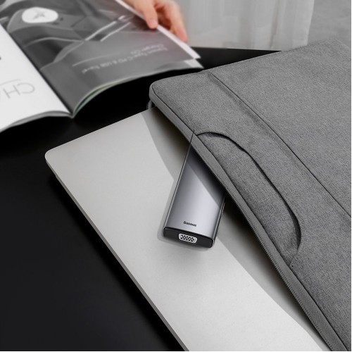 Baseus Metal Gleam 9in1 multifunctional HUB USB Type C - 3x USB 3.2 Gen 1 5Gbps / USB Type C PD 100W / VGA Full HD 60Hz / HDMI 4K 30Hz / czytnik kart TF i SD / RJ45 1Gbps gray (CAHUB-CU0G)