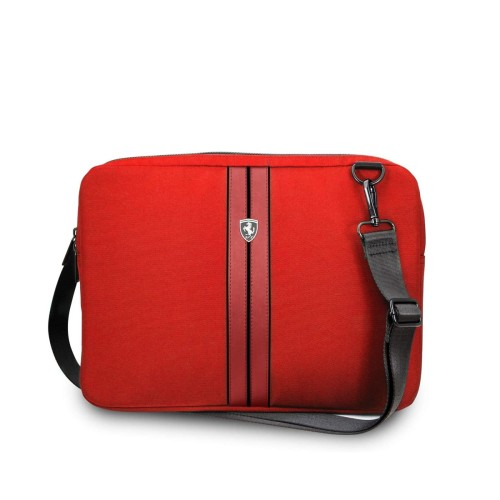 Ferrari Urban Collection Computer Sleeve Θήκη κατάλληλη για laptop/tablet 13″ (Red with Black Piping)