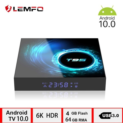 LEMFO T95 H616 4GB+64GB Smart Android TV Box - Support 6K 3D  Set Top Box