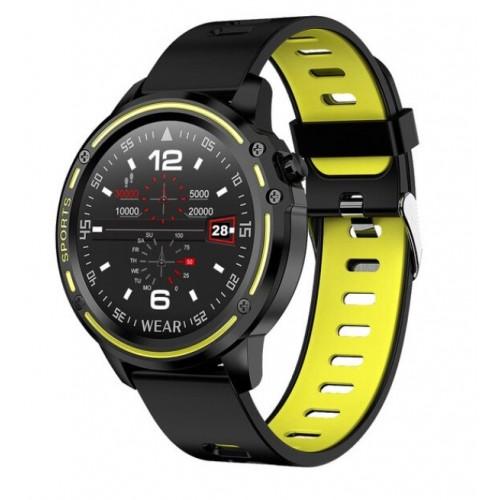 LEMFO L8 PPG + ECG Full Round Display Smart Watch Men IP68 Waterproof Professional Sport Smartwatch Battery Life Long Standby GREEN