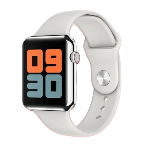 LEMFO B59 Smart Watch Series 4 For Men and Women Heartrate Detection Blood Pressure Weather Forecast For Apple Android Watch WHITE