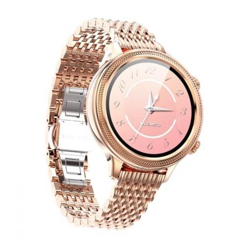 LEMFO LT06 2020 Smart Watch Women Full Touch Screen 24 Hours Heart Rate Monitor IP67 Waterproof Lady Smartwatch Multi Language GOLD
