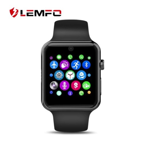 LEMFO LF07 Bluetooth Smart Watch Support SIM Card Pedometer Bluetooth 4.0 Voice Interactive Smart Watch For IOS Android Phone BLACK
