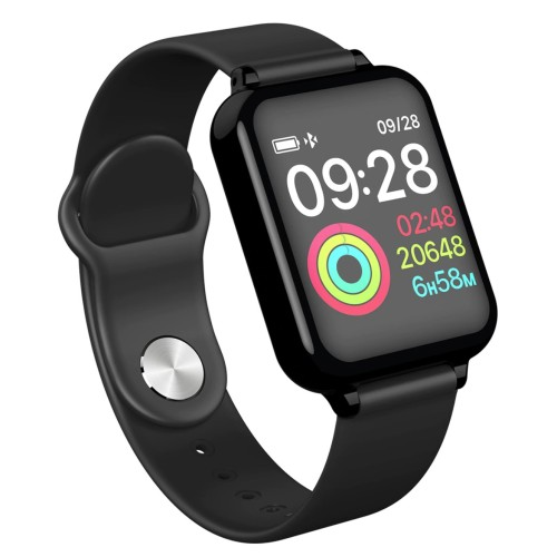 LEMFO B57C smart watch women man IP67 waterproof heart rate Monitor blood pressure oxygen multisport mode BLACK