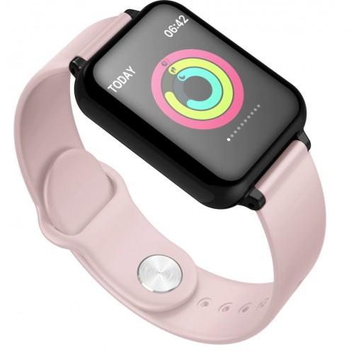 LEMFO B57C smart watch women man IP67 waterproof heart rate Monitor blood pressure oxygen multisport mode PINK