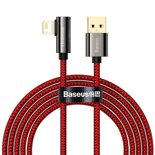 Cable USB to Lightning Baseus Legend Series, 2.4A, 2m (red) CACS000109