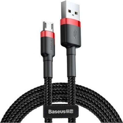 Baseus CAMKLF-B91 Micro USB Cafule cable 2.4A 1m black-red Τεχνολογία