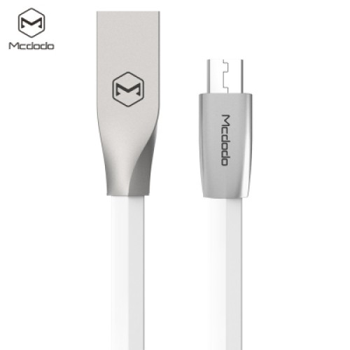 Mcdodo CA - 125 Micro USB Metal Housing Noodle Transfer Data Synchronization Charging Cord 1m WHITE