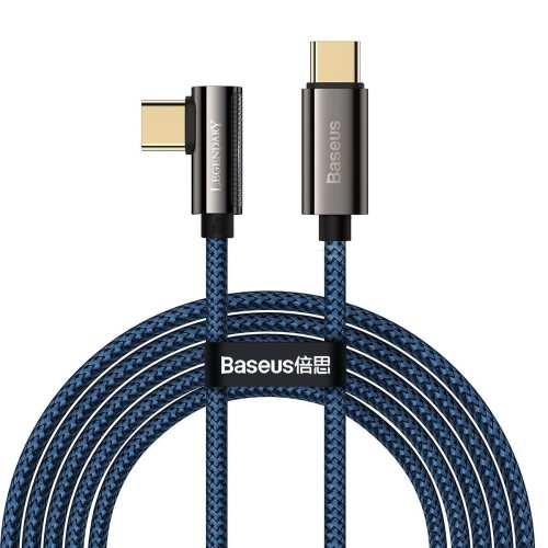 Cable USB-C to USB-C Baseus Legend Series, PD, 100W, 2m (blue) CACS000703