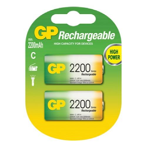GP batteries επαναφορτιζόμενες μπαταρίες C 2200 mAh NiMh 1.2V