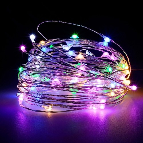 Battery Operated Garland Indoor Outdoor Home Decoration Strip Light multicolor