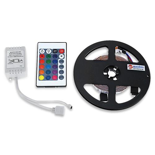 ZDM 5M LED ταινία / strip 300 24W 2835 SMD RGB πολύχρωμη με Τηλεχειριστήριο 60LED/m 12v