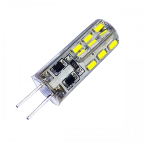 G4 Base 24 LED Lamp Bulb 1W DC 12V White Light Undimmable 360 Degrees Beam Angle