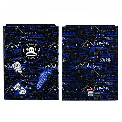 Paul Frank Φάκελος με Λάστιχο και Αυτιά για Χαρτί A4 Πολύχρωμο Rock N Roll 34x26cm 1τμχ