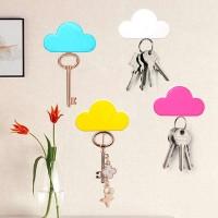 Κλειδοθήκη τοίχου μαγνητική ροζ συννεφάκι Σπίτι - Κήπος