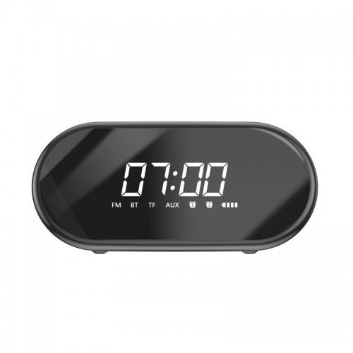 Baseus  NGE09-01 Encok E09 Wireless Bluetooth Speaker, clock (black) επιτραπέζιο ρολόι με ηχείο, ραδιόφωνο, aux. tf card και 2 ξυπνητήρια