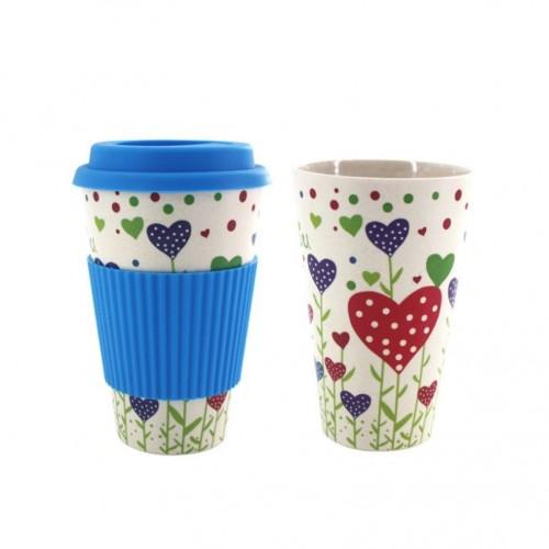 Κούπα Καφέ Οικολογική από Bamboo Μπλε