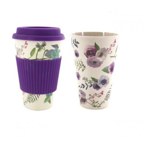 Κούπα Καφέ Οικολογική από Bamboo Μοβ