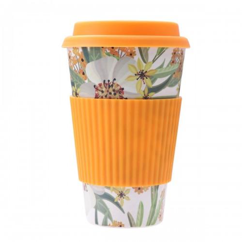 Κούπα Καφέ Οικολογική από Bamboo Πορτοκαλί