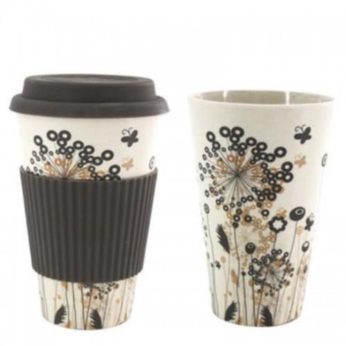 Κούπα Καφέ Οικολογική από Bamboo Γκρι