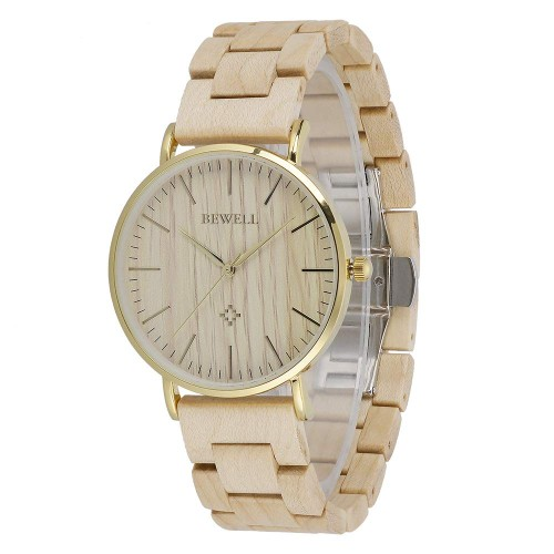 BEWELL ZS - W163AL Luxury Brand Quartz Maple