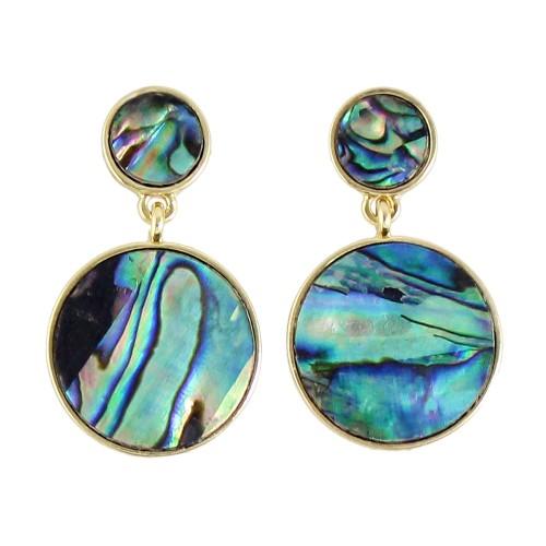 Gemstone Round Shape Earrings