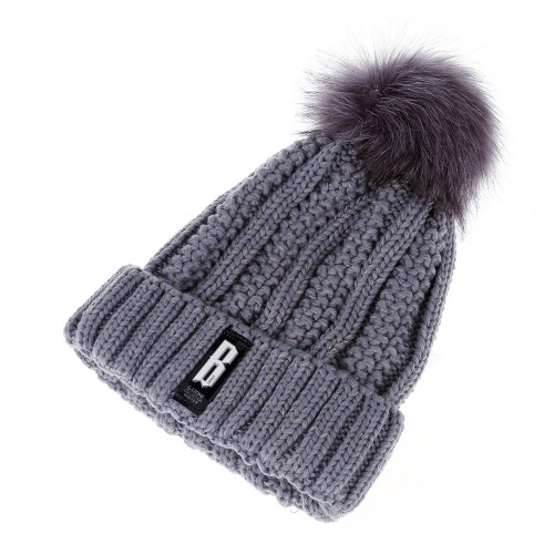 Fashion Winter Knitted Hat Women Skullies and Beanies Female