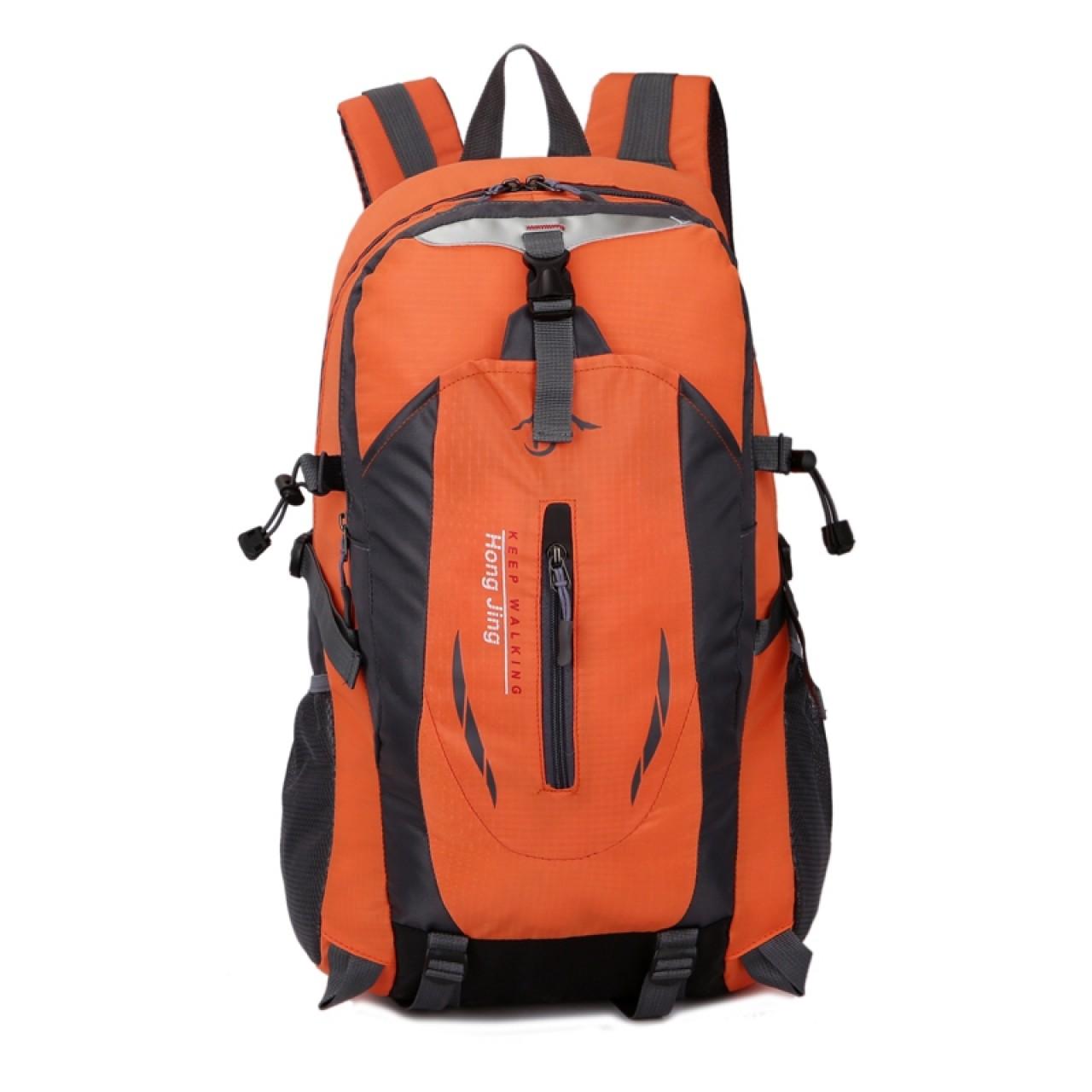 4b6a4a6843c Casual Waterproof Simple Backpack τσάντας πλάτης αδιάβροχη μαύρο-πορτοκαλί  Hobby - Αθλητισμός