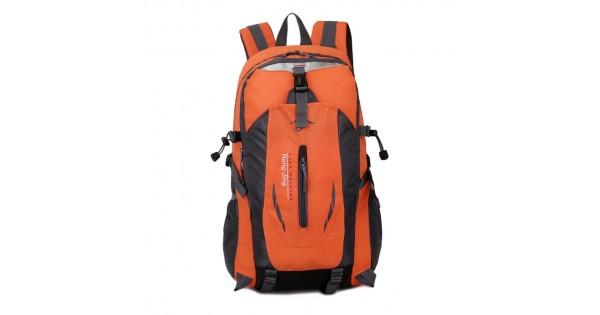 88fbfaee9b4 Casual Waterproof Simple Backpack τσάντας πλάτης αδιάβροχη μαύρο-πορτοκαλί
