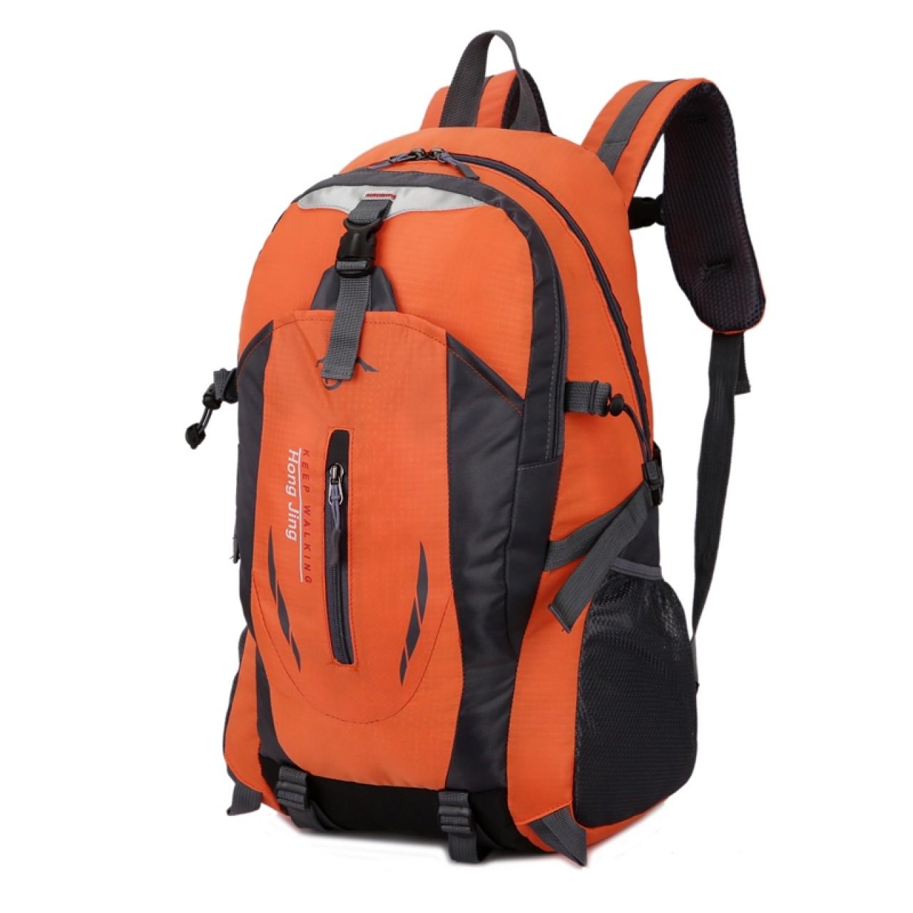 a018ee7ebaf ... Casual Waterproof Simple Backpack τσάντας πλάτης αδιάβροχη μαύρο-πορτοκαλί  Hobby - Αθλητισμός