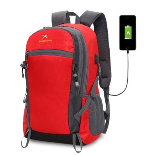 Xuanyufan XYF0029 Outdoor Hiking Lightweight Travel Backpack 35l with USB Port τσάντας πλάτης αδιάβροχη κόκκινη Hobby - Αθλητισμός