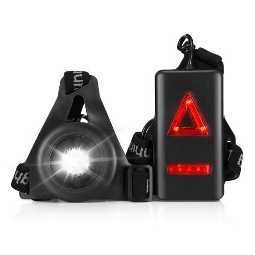 Φως για Τρέξιμο - E10 20M Lighting USB Charging Night Running Sports LED Light with Red Taillight
