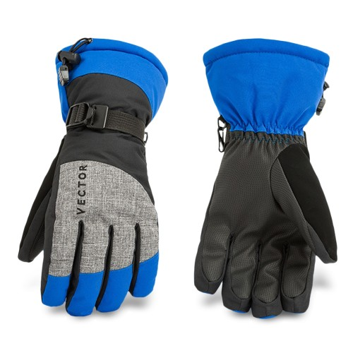Vector STQ11000 Large Windproof Water Resistant Winter Warm Skiing Snowboarding Gloves Blue LARGE