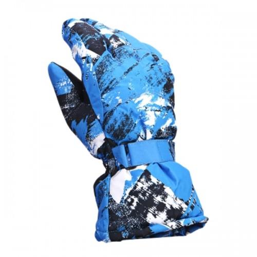 Vector ACC30021 Winter Windproof Water-resistant Warm Skiing Snowboarding Gloves Blue