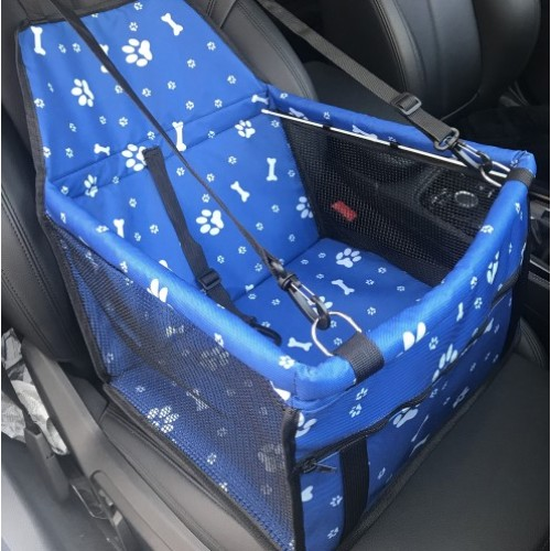 Τρυπητό Καθισματάκι συνοδηγού αυτοκινήτου για κατοικίδια Μπλε - Car Front Row Waterproof Printing Anti-Deformation Pet Car Mat