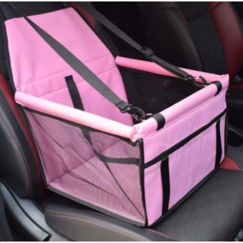 Τρυπητό Καθισματάκι συνοδηγού αυτοκινήτου για κατοικίδια Ροζ