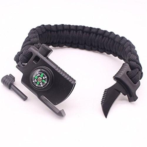 Knife Adjustable Paracord Survival Bracelet Gear 500LB Outdoor Hiking Travelling Hobby - Αθλητισμός
