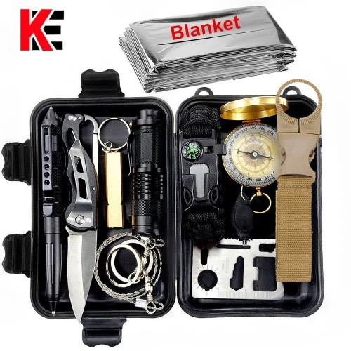Κιτ Επιβίωσης Outdoor survival kit Set Camping Travel Multifunction First aid SOS EDC Emergency Supplies Tactical for Wilderness tool garget