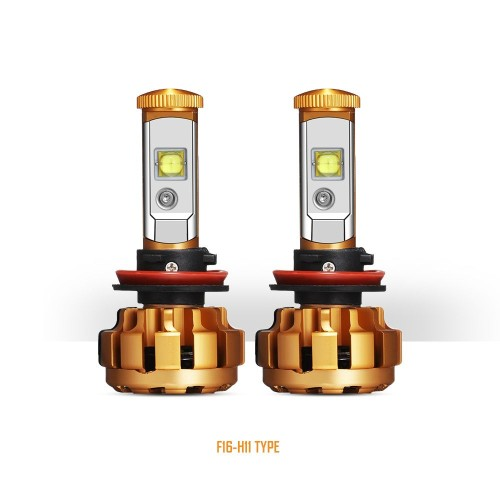 AUXBEAM F-16 Series H11/H9/H8 Replacement LED Headlight Bulbs  Auto - Moto