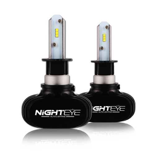 2 X 25W H3 LED 12V/24V (50W 8000LM) 6500K A315 S1 NIGHTEYE ORIGINAL  Auto - Moto