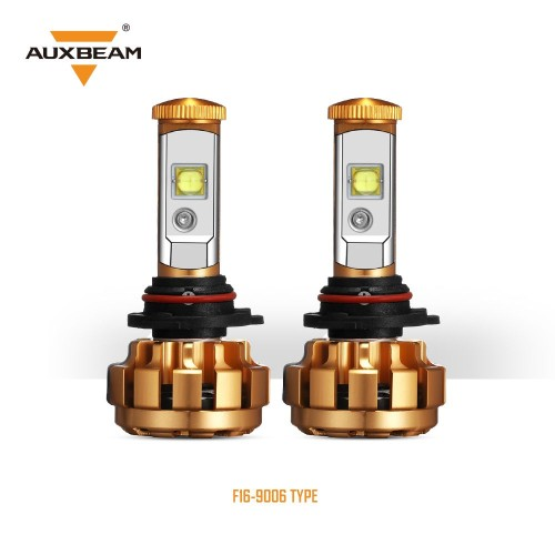 AUXBEAM (2pcs/set) 9006 F-16 Series LED Headlight Bulbs - 6000K 6000LM