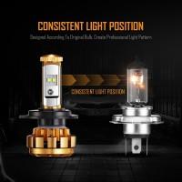 AUXBEAM (2pcs/set) 9006 F-16 Series LED Headlight Bulbs - 6000K 6000LM Auto - Moto