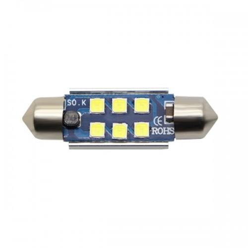 OEM 39MM Festoon CanBus 4PCS SMD 3030 6 LED Λευκό