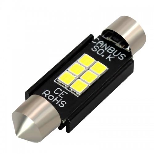 OEM 41MM Festoon CanBus 2PCS SMD 3030 6 LED Λευκό