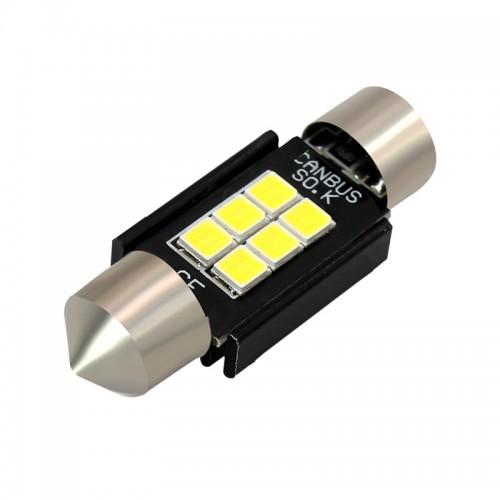 OEM 31MM Festoon CanBus 2PCS SMD 3030 6 LED Λευκό