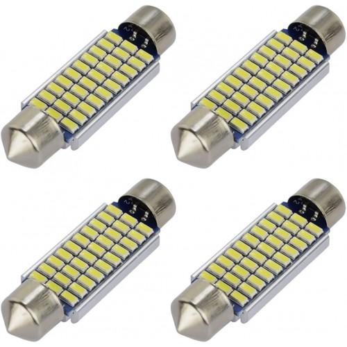 OEM 36MM Festoon CanBus 4PCS SMD 3014 30 LED Λευκό